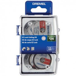 Kit Accesorios para Cortar Dremel 728, 11 accesorios Micro Kit corte EZ Lock