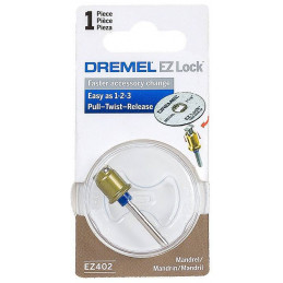 Mandril Dremel EZ402, uso en accesorios de bloqueo EZ Lock