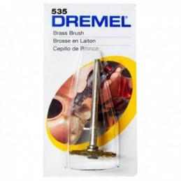"""Cepillo de Laton Dremel 535, 3/4"""" 19mm EZ Lock para Limpiar y Pulir"""