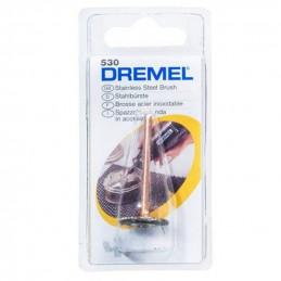 """Cepillo Acero Inoxidable Dremel 530, 3/4"""" para limpiar, desbarbado"""