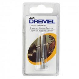 "Cepillo Acero al Carbon Dremel 443, 1/8"" 3.2mm decapar pulir homogeneizar limpiar"