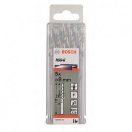 """Broca Metal HSS-G Bosch 8.7mm - 11/32"""" Acero Rapido 2608585454 para acero hierro 5 Unidades"""