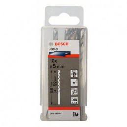 """Broca Metal HSS-G Bosch 5.6mm - 7/32"""" Acero Rapido 2608585446 para acero hierro 10 Unidades"""