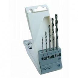 """Broca Metal HSS-G Bosch 2,3,4,5,6mm 2608595517 Vastago Hexagonal 1/4"""" para acero hierro"""