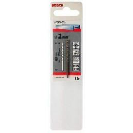 Broca Metal HSS Cobalto Bosch 2mm x29x49mm 2608585840 Para acero inoxidable hierro fundido