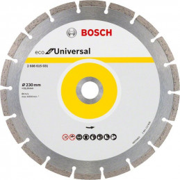 "Disco Diamante ECO Bosch 9"" x22.23mm 2608615031 Universal Segmentado"