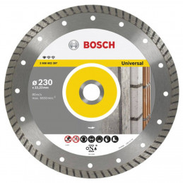 "Disco Diamante Standard Bosch 9"" x22.23mm 2608602397 Universal Turbo Construccion Metal"