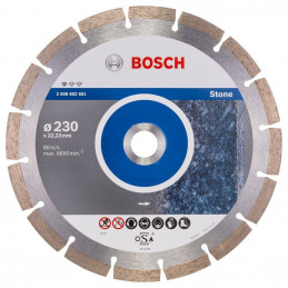 "Disco Diamante Standard Bosch 9"" x22.23mm 2608602601 para Roca Natural"
