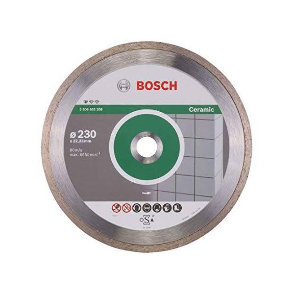 """Disco Diamante Standard Bosch 9"""" x22.23mm 2608602205 para Ceramica y azulejos"""