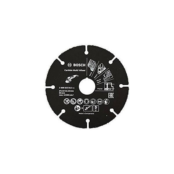 """Disco Diamante Madera Bosch 4 1/2"""" DI 22.23mm carburo de tungsteno 2608623012 Amoladora para madera con clavos"""