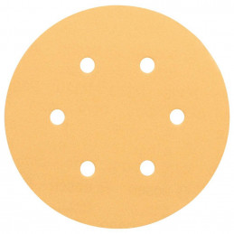 Disco de Lija Madera Bosch C470, 150mm, 6 huecos, Grano 80 Cajax50 2608607835