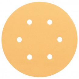 Disco de Lija Madera Bosch C470, 150mm, 6 huecos, Grano 40 Cajax50 2608607833
