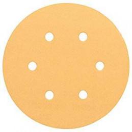 Disco de Lija Madera Bosch C470, 150mm, 6 huecos, Grano 100 Cajax50 2608607836