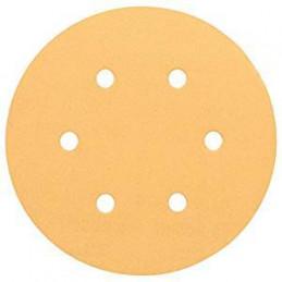 Disco de Lija Madera Bosch C470, 150mm, 6 huecos, Grano 120 Cajax50 2608607837