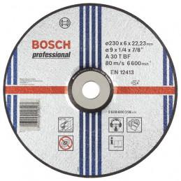 "Disco Abrasivo Desbaste Bosch Metal 9"" 230mm x6.0mm Expert 2608600228"