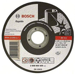 "Disco Abrasivo Corte Bosch Inox 4 1/2"" - 115mm x1.0x22.23mm Expert 2608600545"