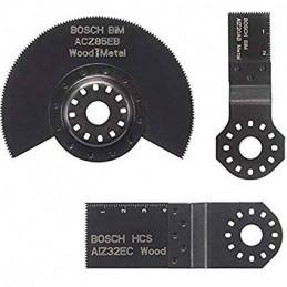 Juego de Cuchillas OMT Bosch Set Basico 3 pzs 2608662343 para Madera