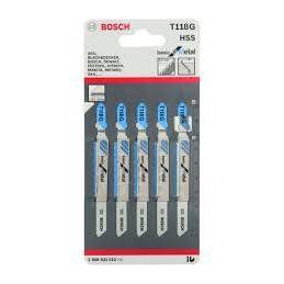 Hoja Caladora HSS Bosch T118G x5 Fino Recto 2608668144 Metal