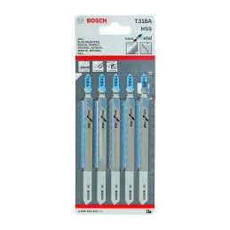 Hoja Caladora HSS Bosch T318A x5 Fino Recto 2608631319 Metal