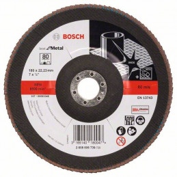 "Disco Flap Metal Bosch 7"" Grano 80 Best 2608606739"