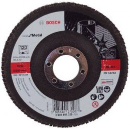 "Disco Flap Metal Bosch 4.5"" Grano 60 Best 2608607323"