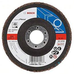 "Disco Flap Metal Bosch 4.5"" Grano 40 Expert 2608606752"