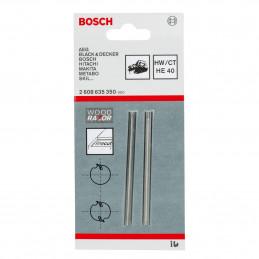 Cuchillas Para Cepillo Electrico Bosch GHO 20-82 2Pz Universal Woodrazor 2608635350