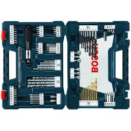 Juego de Puntas y Brocas Bosch 91 Piezas Azul x-line 2610038619