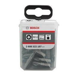 Punta Pozidriv Bosch PZ2 x25mm 25 Piezas 2608522187