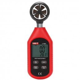 Anemometro Mini Digital UNI-T UT-363 Velocidad del Viento M Km Nudos Mph ft y Temperatura