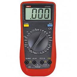 Multimetro Digital UNI-T UT-151A, ACDC 600V 10A Resistencia Capacitancia continuidad Diodo Medidor de Baterias 12 9 2.5V