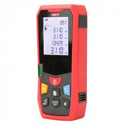 Medidor de Distancia Laser Digital UNI-T LM-100, Alcance 100M Ergonomico Precision Milimetrica Multiple Funciones