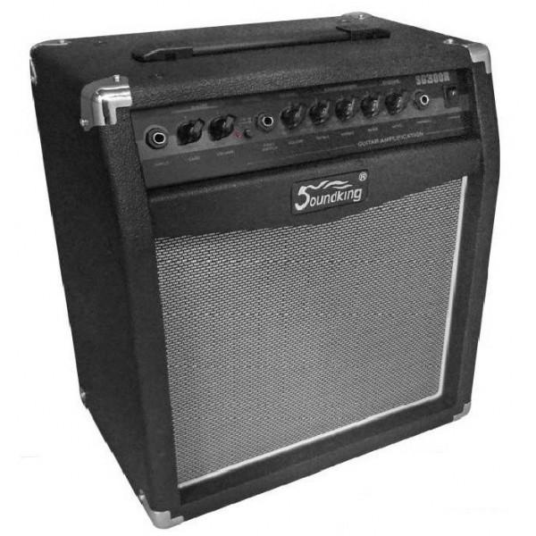 """Amplificador 30W RMS 8"""" Para Guitarra, SG300R SoundKing"""