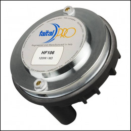 """Driver 1"""" 120W RMS 80OHM Neodimio, HF106 Faital Pro"""