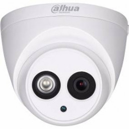 Camara Domo Dahua HAC-HDW1200EM-A-0280B-S4 4en1 2MP 1080P CMOS ICR IP67 IR50m Smart IR 2.8mm fixed lens Mic Metal