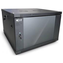 Gabinete Armario Nexxt PCRWESKD09U45FXBK 09U de pared semi-ensamblado Instalable Pr45cm
