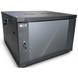 Gabinete Armario Nexxt PCRWESKD06U45FXBK 06U de pared semi-ensamblado Instalable Pr45cm