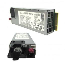 Fuente de alimentación HPE 865408-B21, 500W, 100V - 240VAC, 80 Plus Platinum, Hot-Plug