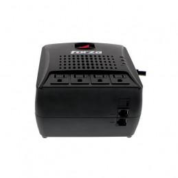 Protector de voltaje Forza FVR-3002 1500W 4Salidas NEMA 5-15R 220V Negro