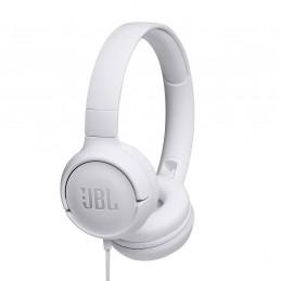Auriculares On-ear JBL Tune 500 JBLT500WHT 3.5mm c/micro Blanco