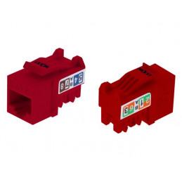 Modulo Keystone Jack Nexxt PCGKJC6TYRJRD RJ45 Cat6 Tipo110 Rojo