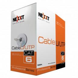 Cable UTP Nexxt PCGUCC6LZGR 305 Cat6 en Bobina tipo LSZH Gris