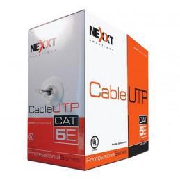 Cable UTP Nexxt AB355NXT01 305M Cat5e 24AWG Bobina tipo CM Gris
