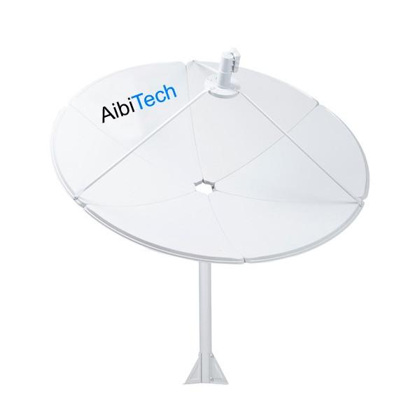 Antena Parabolica Satelital Banda C AibiTech 240cm sin LNBF