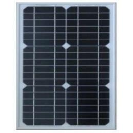 Panel Solar Monocristalino 15W 12V - 39x35.5x1.8cm, ODA15-18-M Osda