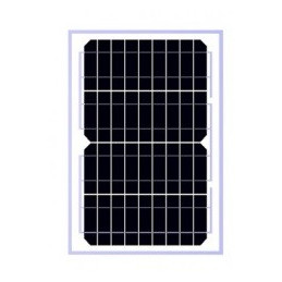 Panel Solar Monocristalino 10W 12V - 35.5x25x1.8cm, ODA10-18-M Osda