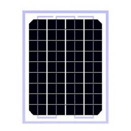 Panel Solar Monocristalino 5W 12V - 27.5x19.5x1.7cm, ODA5-18-M Osda