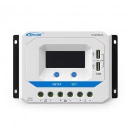 Controlador de Carga Solar PWM Epever VS4548AU LCD 45A,12/24/36/48V Auto 2USB5V