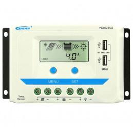 Controlador de Carga Solar PWM Epever VS6024AU LCD 60A,12/24V Auto 2USB5V