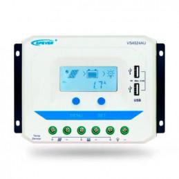 Controlador de Carga Solar PWM Epever VS4524AU LCD 45A 12/24V Auto 2USB5V